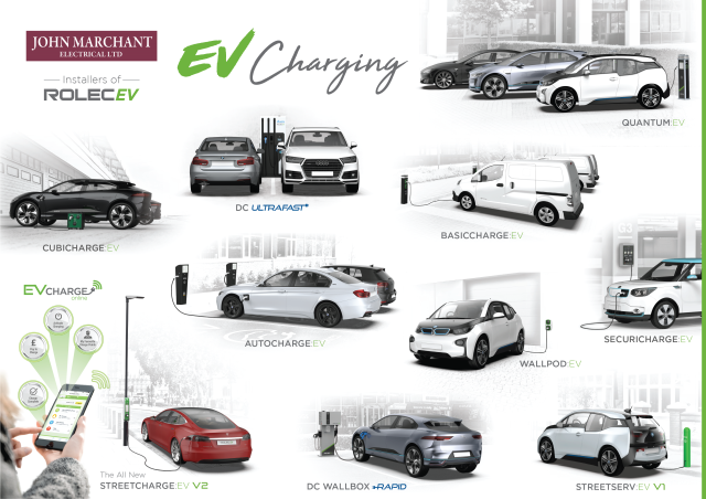 John Marchant Electrical Ltd Rolec EV Charging Moodboard1